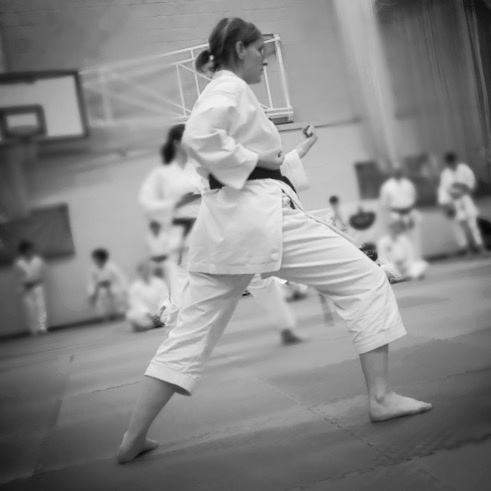 Kirsty in her first competition for kumite